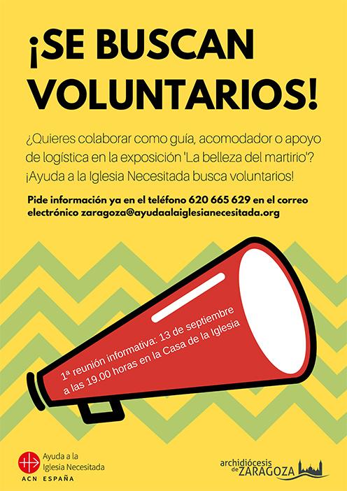 ¡Se buscan voluntarios!